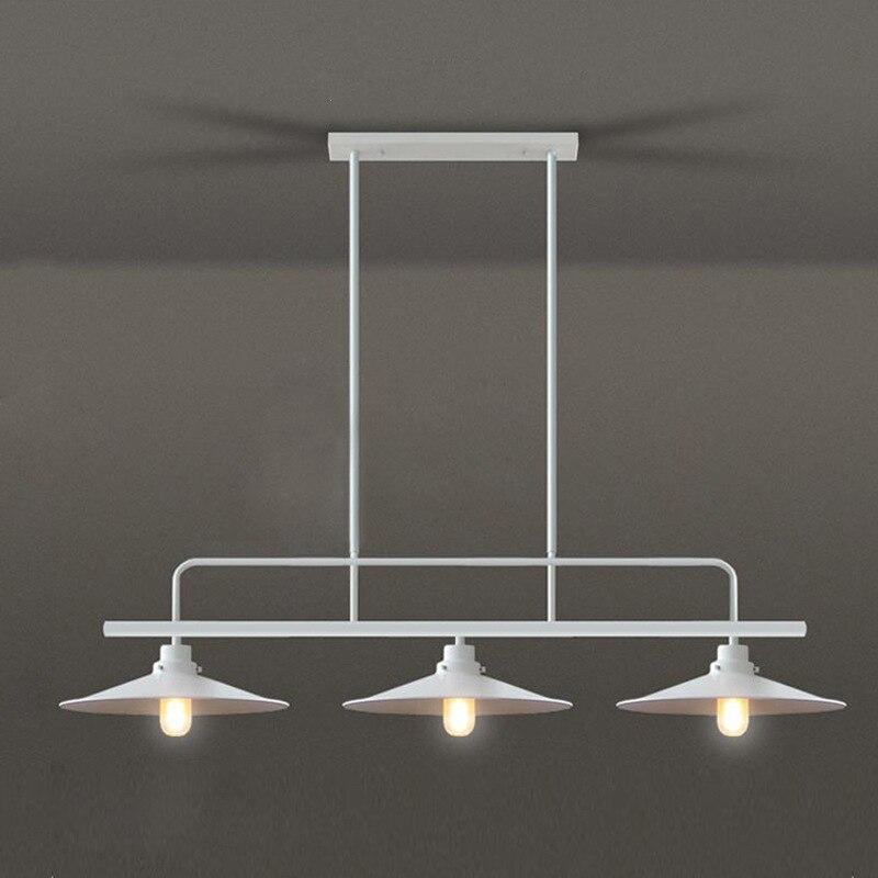 Лофт ретро промышленный обеденный стол подвесной светильник три конца горшок крышка бар столовая бильярдный стол железный подвесной свети