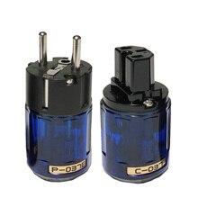 Oyaide Hifi C 037 P 037E Schuko Europa Eu Power Plug Rhodium Iec Audio Connector Vrouwelijke Mannelijke Matihur Audio