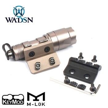 WADSN Tactical M300 M600 Flashlight Mini Offset Base Airsoft Rifle Weapon Light Metal Mount Fit M-LOK Keymod 20mm Picatinny Rail - discount item  33% OFF Hunting
