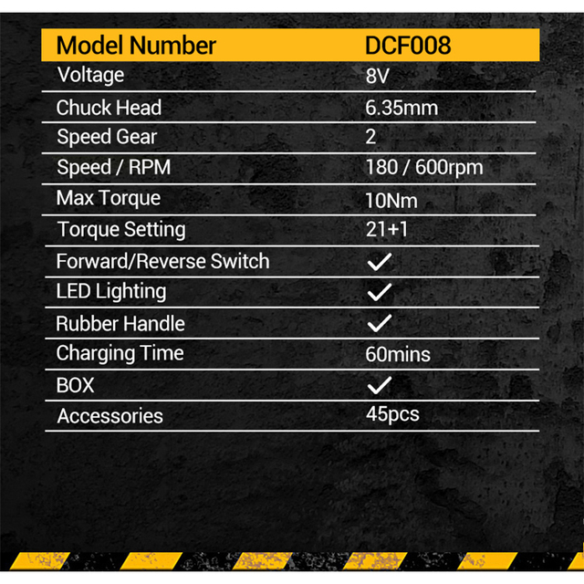 Dewalt Mini Electrical Screwdriver Set DCF008 Smart Cordless Electric Screwdrivers USB Rechargeable Handle with 45 Bit Set Drill 4