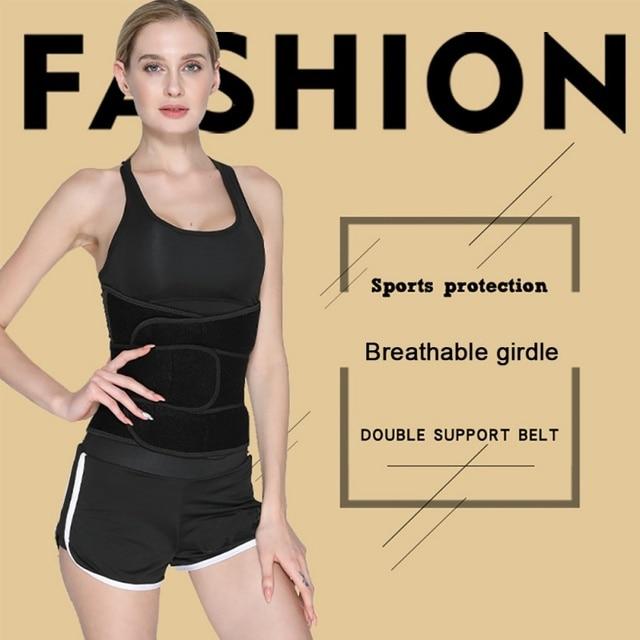 Sport Safe Accessories Women Waist Trimmer Belt Weight Loss Sweat Band Wrap Fat Tummy Stomach Sauna Sweat Belts 3