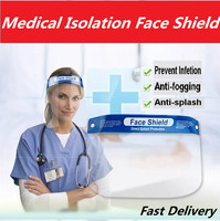 Adjustable Full Face Shield with Stretch Head Band Anti virus fog Transparent Protective Cover Masks Fast DHL UPS delivery