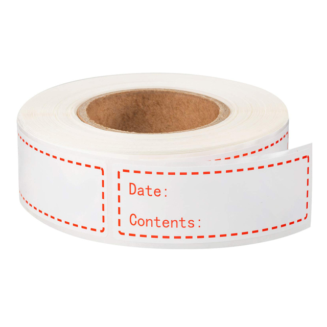 Freezer Food Labels On Roll Self Adhesive Date Labels 82x60mm Write on address