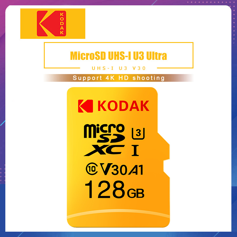 Kodak Memory-Card Flash Carte V30 Cartao-De-Memoria Micro-Sd Class 128GB 32GB 256GB 64GB title=
