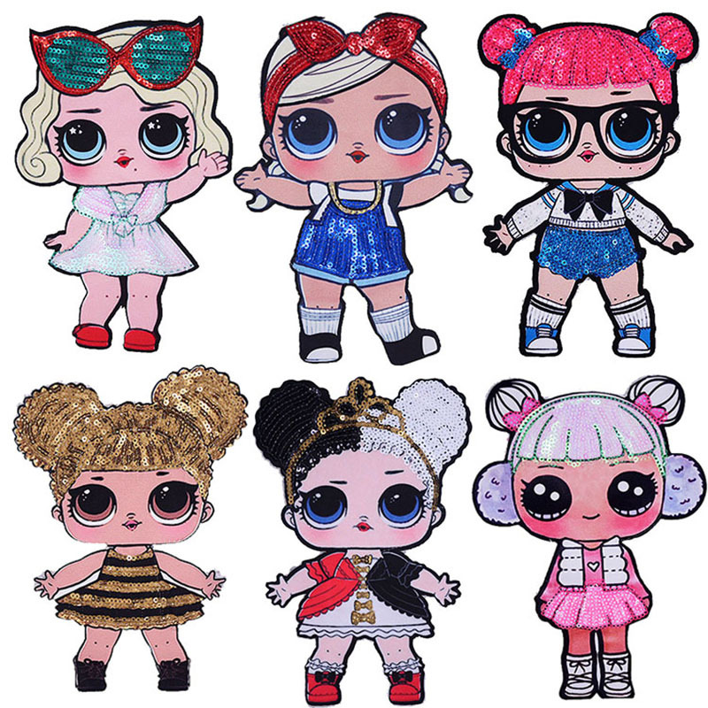 2020 New Lol Surprise Doll Cartoon Non-woven Patch Paste Cute Textile Accessories Styling Change Fashion ExquisiteToys For Girls
