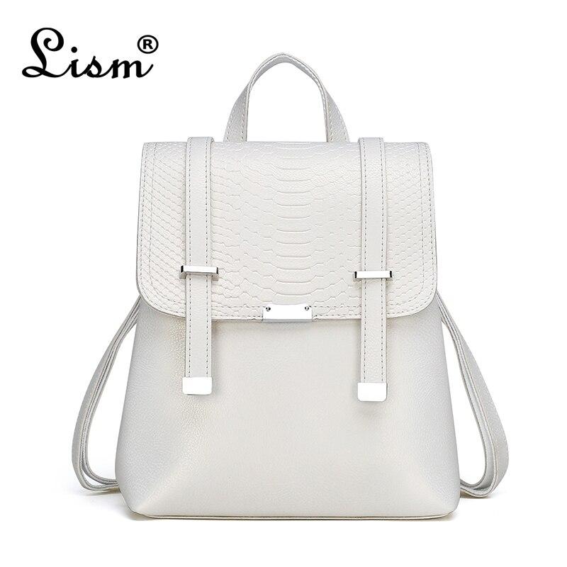 Luxury Ladies Backpack 2020 New Snake Pattern Bag High Quality Multifunctional Student Schoolbag Designer Design Travel Bag