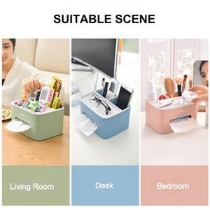 Image 5 - LEDFRE Дом Офис многофункциональный пульт дистанционного управления коробка для хранения косметики присоска коробка для салфеток LF89001