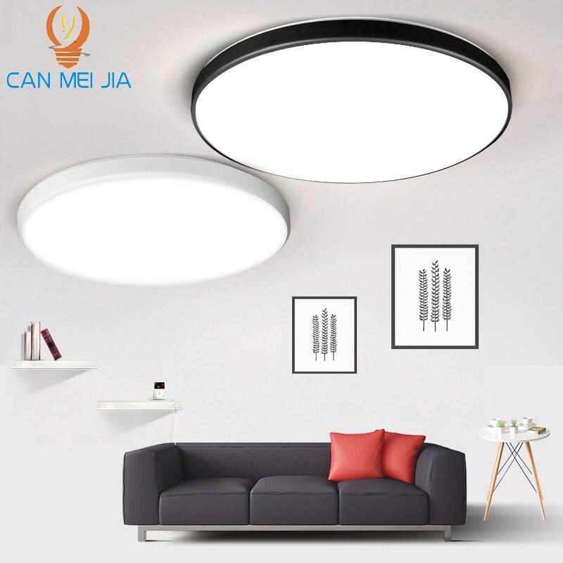 Plafonniers Led 15/20/30/50W plafonniers allumant 220V Ultra mince LED luminaires de panneau pour la cuisine de chambre à coucher de salon