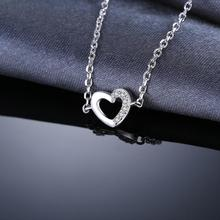 Sterling Silver Love Heart Bangles Bracelets Jewelry for Women