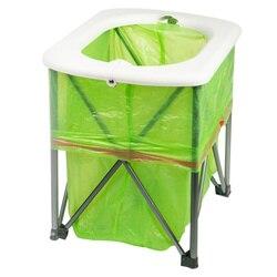 Inodoro portátil de emergencia para exterior, inodoro plegable multifunción, bandeja de Pedestal para acampar y hacer senderismo
