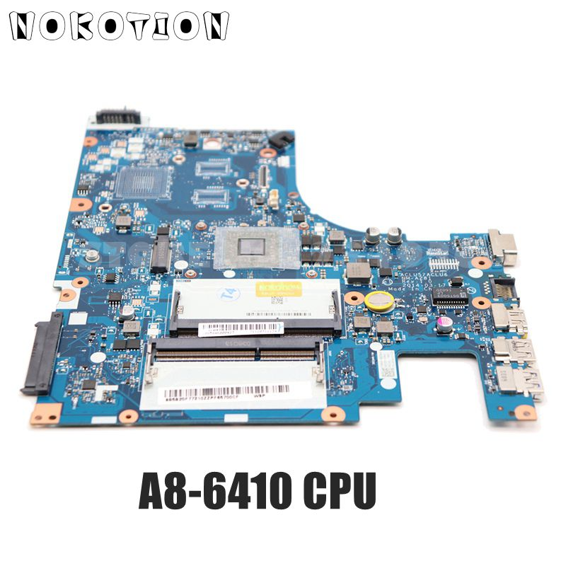NOKOTION MAIN BOARD For Lenovo G50 G50-45 Laptop Motherboard A8-6410 CPU ACLU5 AULU6 NM-A281 REV:1.0 DDR3 100% Tested