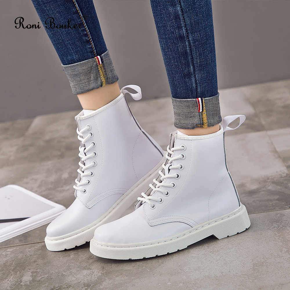 Roni Bouker Winter Schoenen Vrouw 2019 Hot Fashion Multicolor Booties Lace-Up Enkel vrouwen Outdoor Comfort Laarzen Chaussures femme