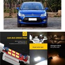 цена на LED Interior Car Lights For Citroen c4 i lc c4 ii b7 hatchback c4 i c4 ii saloon c4 picasso i mpv Dome map lamp bulb error free