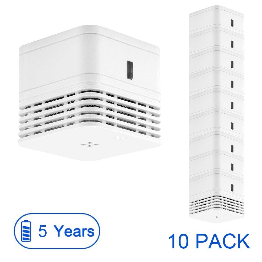 CPVan 10pcs/Lot Smoke Detector 5 Yr Smoke Alarm Fire Detector 85dB Loud Alarm Smoke EN14604 CE Certified Photoelectric Sensor