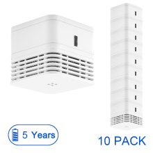 CPVan 10pcs/Lot smoke detector 5 yr smoke alarm fire detector 85dB loud alarm smoke EN14604 CE certified photoelectric sensor