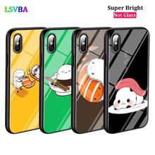 Black Cover Sushi Pug for iPhone X XR XS Max 8 7 6 6S Plus 5S 5 SE Super Bright Glossy Phone Case