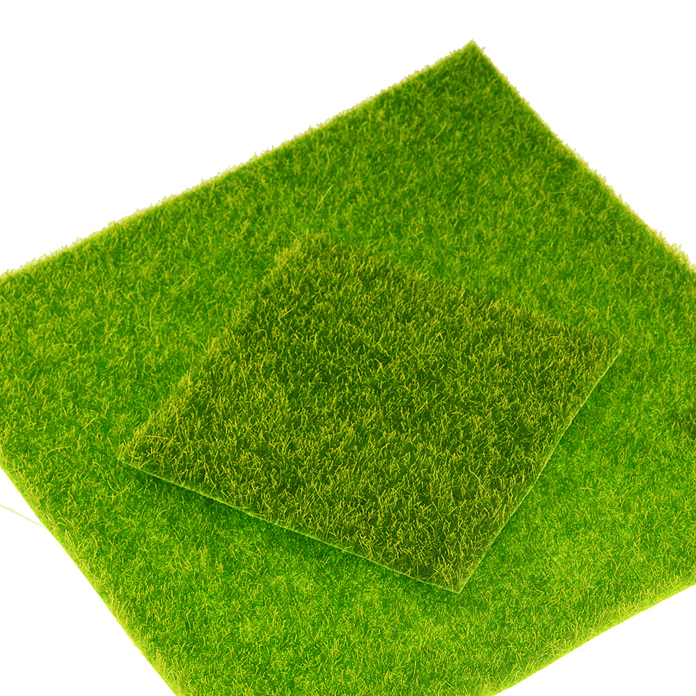 1PC DIY Mini Fairy Garden Simulation Plants Artificial Fake Moss Decorative Lawn Turf Green Grass Micro Landscape Decoration