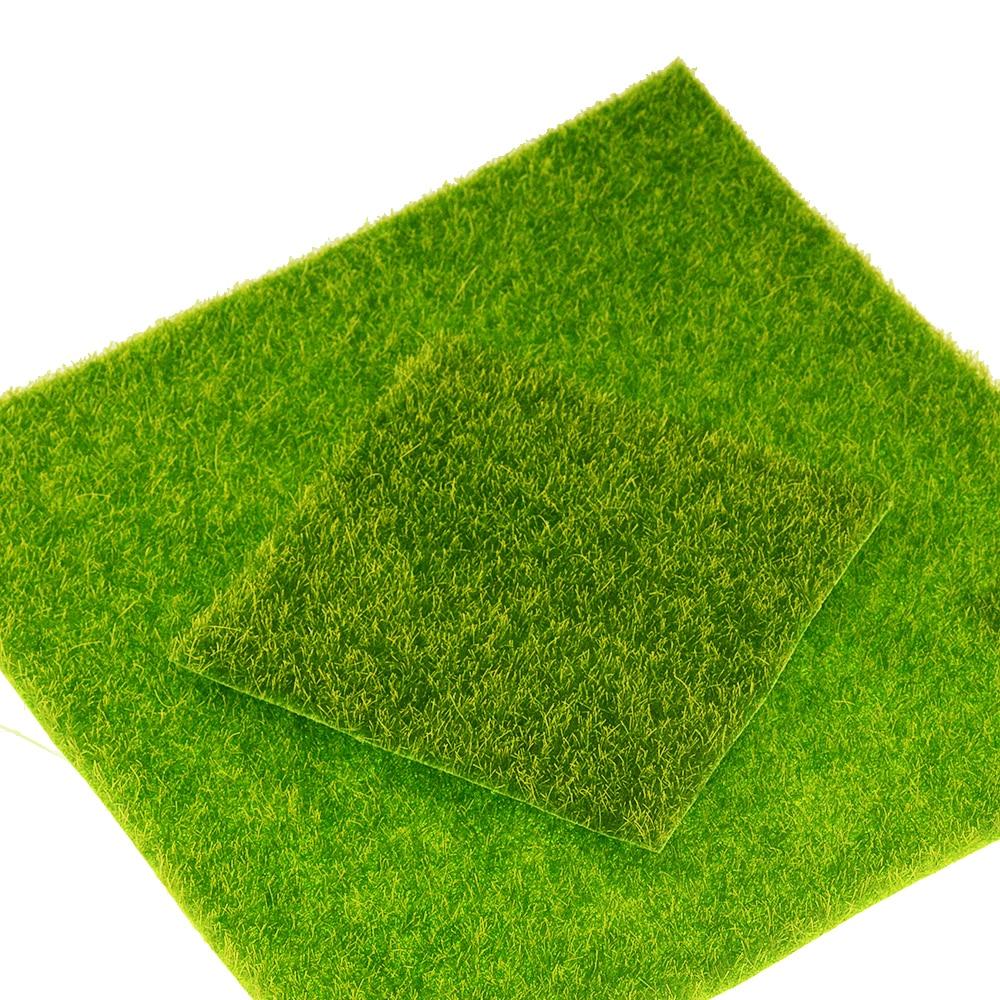 1PC DIY Mini Fairy Garden Simulation Plants Artificial Fake Moss Decorative Lawn Turf Green Grass Micro Landscape Decoration