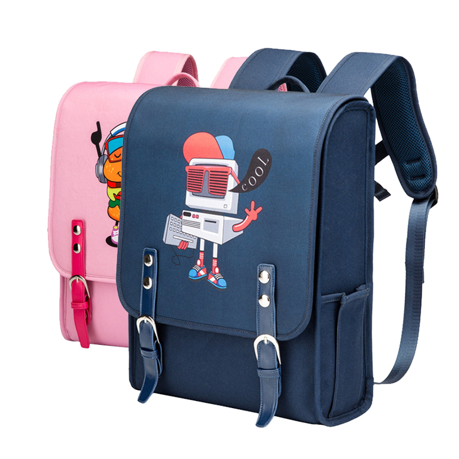 Children Japan School Bag For Girls Kid Orthopedic Backpack For Students Bookbag Japan Style Cartoon Randoseru Bag For Boys New