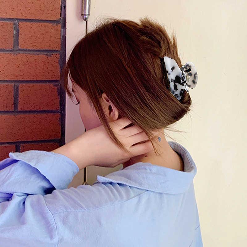 Marmer Akrilik Cakar 10 Cm Wanita Selulosa Asetat Rambut Klip Jepit Rambut Wanita Wanita Rambut Crab Clamp Aksesoris Rambut Hiasan Kepala