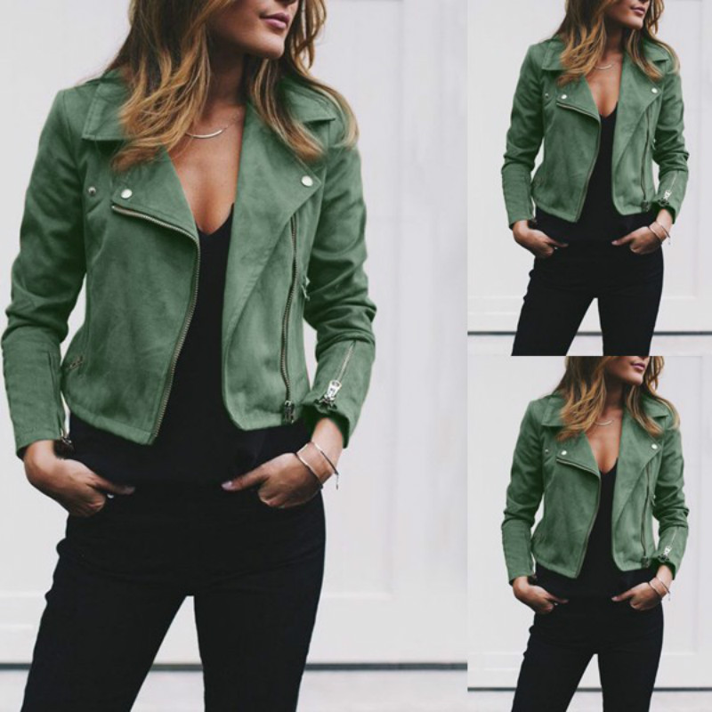 Autumn/Winter New Style Jacket Women Plus Size Turn Down Collar Asymmetric Length Short Slim Fashion Women Coats And Jackets