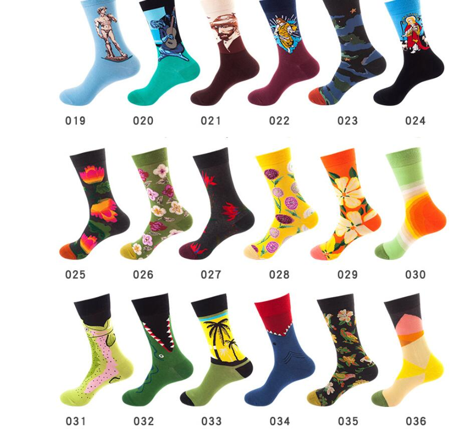 Mens socks 100 cotton  Stockings women's cotton European American men's socks couple personality Unisex Socks