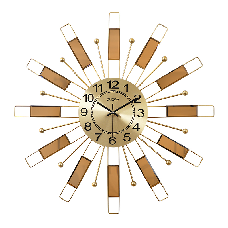 Europe Watch Wall Clock Metal Gold Silent Clock Mechanism Living Room Creative Wall Hanging Clocks Modern Home Decoration FZ543