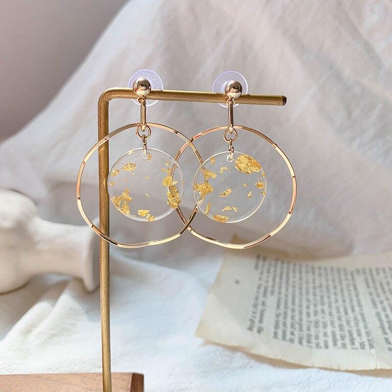Pierced Earrings Vintage Gold Circle Earrings Fashion Jewelry Wholesale