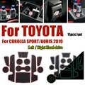 Противоскользящий резиновый коврик под чашку подушки двери рифленые накладки для Toyota CORLLA SPORT/AURIS 2019 автомобильный внутренний слот ворота ко...
