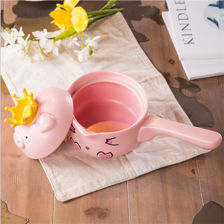 Cartoon Ceramic Casserole Pig High Temperature Pot 3
