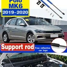 Для VW Polo, 2019, 2020, AW MK6, Ремонтный капот, газовая пружина, амортизирующая стойка, поддерживающая Hraulic стержень, автомобильный Стайлинг