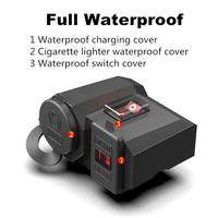 Cargador USB Universal para motocicleta, voltímetro LED, resistente al agua, 12V/24V, enchufe para encendedor de cigarrillos, adaptador de corriente para teléfono móvil