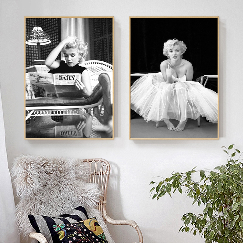 Monroe Poster Canvas Painting Fashion Wall Picture Prints For Living Room Wall Art Home Decor