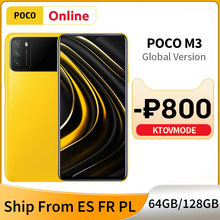 POCO-teléfono inteligente M3 versión Global, 4GB y 128GB/64GB, Triple Cámara ia de 48MP, batería de 6000mAh, Snapdragon 662, pantalla de 6,53