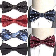 Mens Bowtie Formal Dot Stripe Necktie Boy Men's Business Wedding Bow Tie Male Formal Dress Shirts Gift Ties for Men Accessories