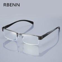 RBENN BRAND DESIGNER Anti Blue Light Men Reading Glasses Metal Frame Business Computer Reader for Male +1.0 1.5 2.0 2.5