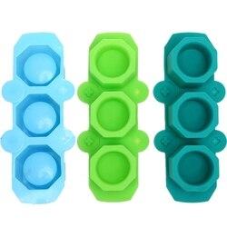 3 Pack Mini Octagon doniczka formy silikonowe sukulenta doniczka formy betonowe cementowe formy gipsowe  silikonowy Mol lodu w Doniczki do sadzonek od Dom i ogród na