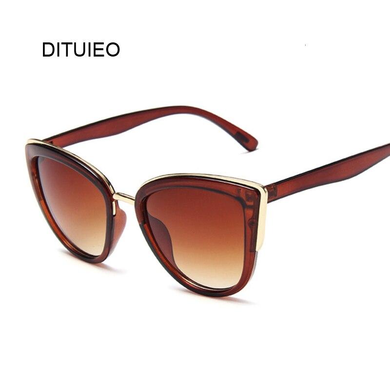 2019 Brand Vintage Cat Eye Sunglasses Women Retro Driving Round Metal Frame Sun Glasses For Female Mirror UV400