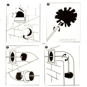 Image 4 - 1 conjunto de escova de náilon com 6 pçs cabo longo flexível tubo hastes para chaminé chaleira casa limpeza kit ferramenta