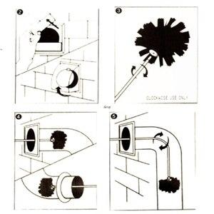 Image 4 - 1 zestaw szczotka nylonowa z 6 sztuk długa rączka elastyczna rura pręty do komina czajnik dom Cleaner urządzenia do oczyszczania zestaw