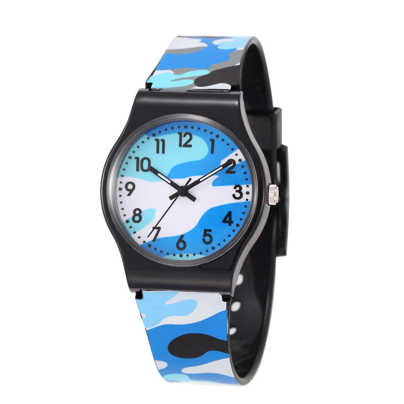 Fashion Children's Watch Camo Waterproof Cool Military Watch Quartz Silicone Children's Clock Meisjes Horloge Horloge Kind Uhren