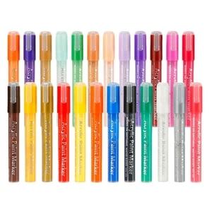 Image 4 - 24 Màu Sắc Sơn Acrylic Bút Bút Bút Sơn Cho Đá Tranh Vải Thủ Công Diy Thẻ Làm Nghệ Thuật Đồ Dùng Học Tập