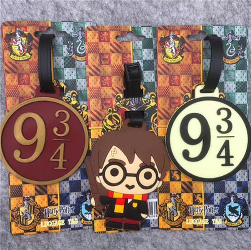 Fashion Action Figure Toys Harri Potter luggage tag Silica Gel Suitcase ID Address Holder Baggage Boarding Portable Labels