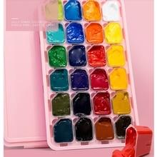 Professional Gouache Watercolor Paints 30ml*24 colors Unique Jelly Cup Design Gouache Paint For Artists Students art supplies