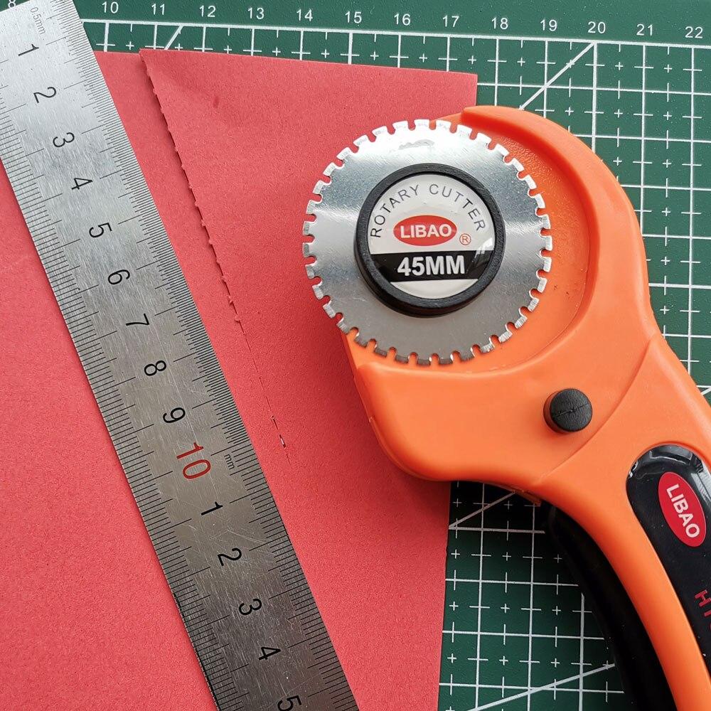 Эргономичная ручка, 45 мм, роторный резак, инструмент для резки бумаги в горошек, скакалка, лезвие «сделай сам», лоскутное шитье, квилтинг Olfa