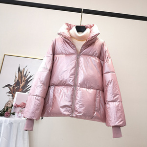 Image 1 - RICORIT Women Down Jacket Down Cotton Loose Clothes Down Coat Female White Duck Down Jacket Winter Waterproof Overcoat