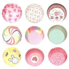 100 шт цветные бумажные стаканчики для кексов бумажные формы для выпечки бумажные вечерние формы для тортов инструменты для украшения тортов TSLM2