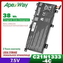 Аккумулятор для ноутбука, 7,5 в, C21NI333, C21N1333, для ASUS X454, TP550L, TP550LA, TP550LD, TP550LJ