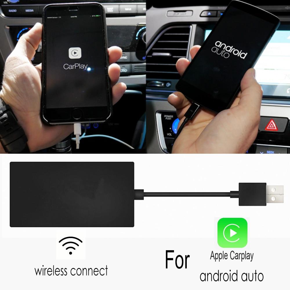 TBBCTEE sans fil pour Apple CarPlay Dongle pour Android Navigation lecteur Mini USB Carplay adaptateur bâton Android Auto radio