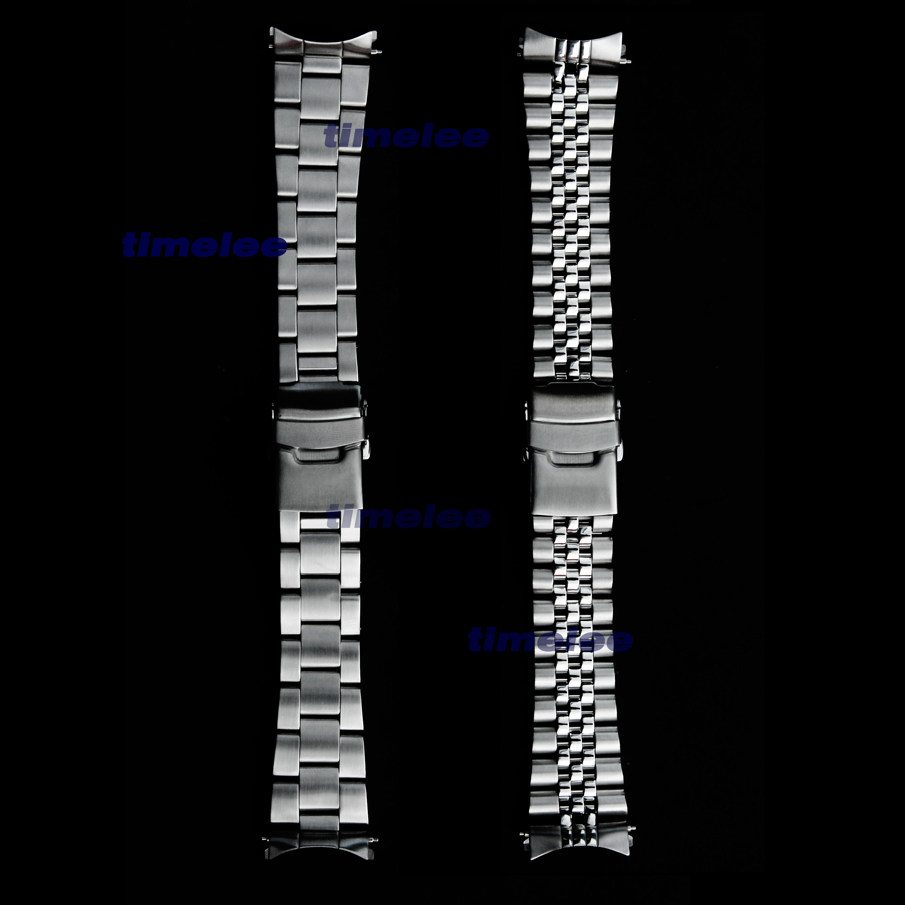 22 mm Stainless Steel Watch Band Bracelets Curved end Replacement For Seiko SKX007 SKX009 SKX011 without LOGO-in Watchbands from Watches